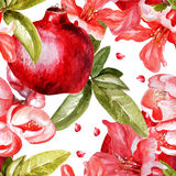 Beautiful watercolor pattern with fruits and Stock Image