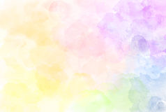 Beautiful watercolor rainbow pattern illustration. Watercolour t Royalty Free Stock Photography