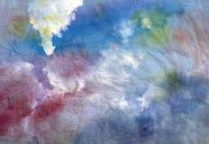 Beautiful watercolor sky Stock Photos