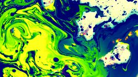 Beautiful watercolour ink in water with oil. futuristic trend background.