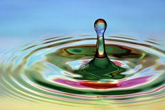 Beautiful waterdrop Royalty Free Stock Photos