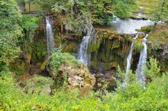 Beautiful waterfal on Plitvice Lake Royalty Free Stock Image