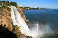 Beautiful Waterfall. In Antalya southern Turkey Asia stock image