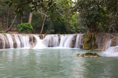Beautiful waterfall. In forests, Thailand Royalty Free Stock Images