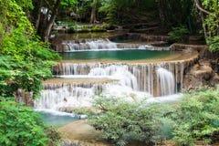 Beautiful Waterfall. In Srinakarin Dam National Park , Kanchanaburi Province , Thailand stock image