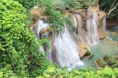 Beautiful Waterfall. In Srinakarin Dam National Park , Kanchanaburi Province , Thailand royalty free stock images