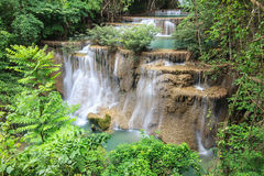 Beautiful Waterfall. In Srinakarin Dam National Park , Kanchanaburi Province , Thailand stock images