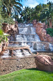 Beautiful Waterfall. Man made on a tropical resort in Las Vegas Royalty Free Stock Image