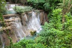 Beautiful Waterfall. In Srinakarin Dam National Park , Kanchanaburi Province , Thailand royalty free stock photos