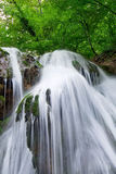 Beautiful waterfall. In forest. Long exposure Stock Photo