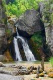 Beautiful waterfall. Olympus mountain stock photo