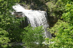 Beautiful waterfall. Scenery of beautiful waterfall in countryside Stock Photography