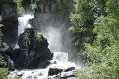 A beautiful waterfall in alaska. Royalty Free Stock Photo