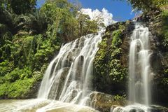 Waterfall in Antipolo province, Philippines. Beautiful waterfall in Antipolo province, Philippines royalty free stock photography