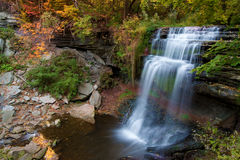 Beautiful waterfall in autumn Royalty Free Stock Photos