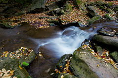 Beautiful waterfall in autumn Royalty Free Stock Image