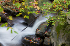 Beautiful waterfall in autumn Stock Images