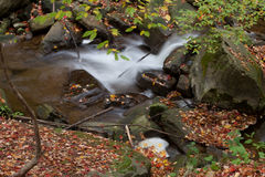Beautiful waterfall in autumn Stock Image
