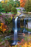 Beautiful waterfall in autumn colors Stock Photos