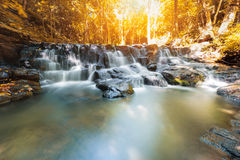 Beautiful waterfall in autumn season, Sam lan waterfall Stock Image