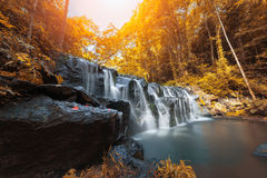 Beautiful waterfall in autumn season, Sam lan waterfall Stock Images