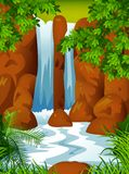 Beautiful Waterfall background Royalty Free Stock Images