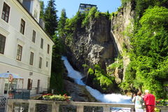 Beautiful Waterfall Bad Gastein Royalty Free Stock Images
