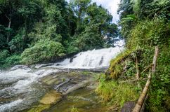 beautiful waterfall at the northern of Thailand,Tropical rain fo Stock Photo