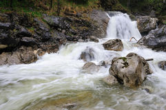 Beautiful waterfall in Bavarian Alps Royalty Free Stock Image
