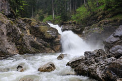 Beautiful waterfall in Bavarian Alps Stock Images
