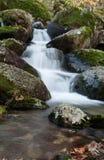 Beautiful waterfall and big rocks Stock Images