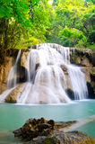 Beautiful waterfall. With blue water in Thailand Stock Image