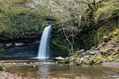 Waterfall in Brecon Beacons Royalty Free Stock Photo
