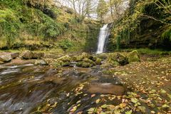 Waterfall in Brecon Beacons Stock Images