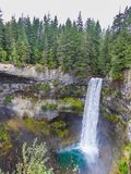 Beautiful waterfall in canada near baniff in summer royalty free stock images