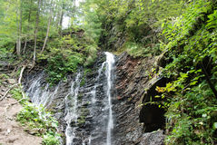 Beautiful waterfall on Carpathian mountains Stock Photography