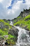 Beautiful waterfall in Carpathians mountains Stock Photo