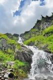 Beautiful waterfall in Carpathians mountains Stock Photo