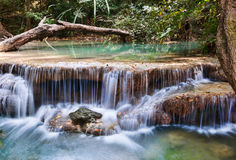 Beautiful waterfall cascades Stock Images