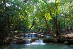 Beautiful waterfall cascades Stock Photo