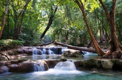 Beautiful waterfall cascades Stock Image