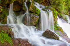 Beautiful waterfall .Catalonia.Spain Stock Photography