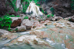 Beautiful Waterfall, Chiang Mai, Thailand Royalty Free Stock Photography