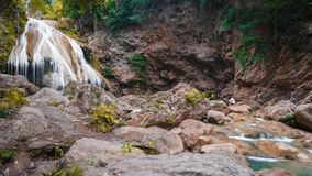 Beautiful Waterfall, Chiang Mai, Thailand Royalty Free Stock Image