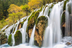 Beautiful waterfall in colorful autumn Royalty Free Stock Photo