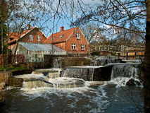 Beautiful Waterfall Country Landscape Denmark Stock Image