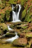 Beautiful waterfall in Czech republic Stock Photos