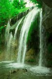 The beautiful waterfall Djur Djur in forest Stock Photos