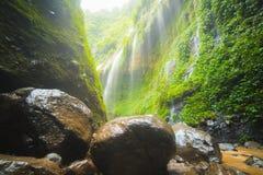 Beautiful waterfall in east java known as Madakaripura Falls stock images