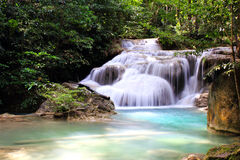 Beautiful Waterfall at Erawan National Park Royalty Free Stock Photos